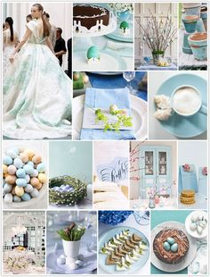 Mottled blues and earth tones of a robin's egg blue from camillestyles.com