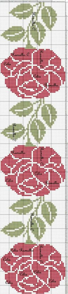 Crochet Chart, Easy Crochet Patterns, Thread Crochet, Crochet Doilies, Beading Patterns, Embroidery Patterns, Stitch Patterns, Simple Cross Stitch, Cross Stitch Flowers
