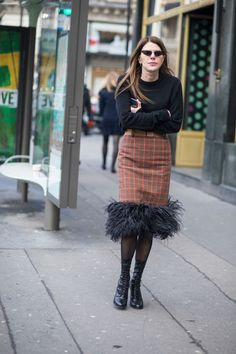 Plaid Was the Street Style Theme on Day 7 of Paris Fashion Week | Fashionista