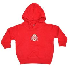 Ohio State Buckeyes Two Feet Ahead Toddler Red Fleece Hoodie Sweatshirt