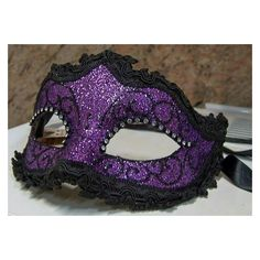 Purple and Black Mask Purple Love, All Things Purple, Shades Of Purple, Purple And Black, Purple Stuff, Plum Purple, Gold Masquerade Mask, Masquerade Party, Masquerade Halloween Costumes
