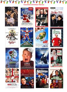 Best Christmas Movies - Have you watched your favorite Holiday film yet this year? It's A Wonderful Life, Holiday Inn, White Christmas, The Bishop's Wife, Elf, Home Alone, National Lampoon's Christmas Vacation . . . so many great ones!