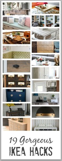 Here are 19 of my top favorite IKEA Hacks in the blogosphere! This collection will give you ideas of things you from shelving, to coffee tables to sofas dressers and more! Enjoy!