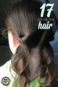 easy hair styles for  kids