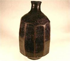 Korean hand-made clay black stone pottery...ancient