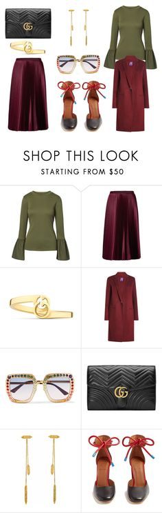 """#feelgood"" by somodishlychic on Polyvore featuring Ted Baker, Gucci, Theory, Annabelle Lucilla Jewellery and Malone Souliers"