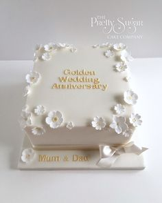 anniversary wedding bell cake toppers - Enchanting Wedding Anniversary Cake Ideas Inspirations You Must See - First thing first: congratulation on your wedding anniversary! Well, it is indeed a great job to get this far—fifty years together! Diamond Wedding Anniversary Cake, Golden Anniversary Cake, 25th Wedding Anniversary Cakes, Anniversary Favors, Cake Toppers, Cake Ideas, Sheet Cakes, Wedding White, Silver Weddings