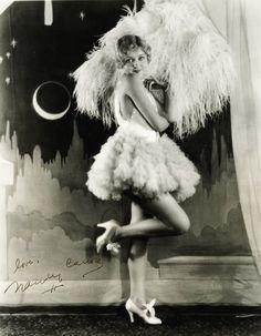 vintage moon lady showgirl flapper