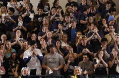 Fans support the basketball team