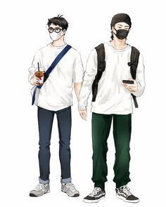 Got7 Fanart, Interior Design Sketches, Got7 Jinyoung, Romantic Things, Manga Boy, Art Reference Poses, Fantastic Art, Cute Drawings, Art Inspo