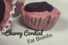 Cherry Cordial Fat Bombs Perfect for low carb diets like Atkins. Ingredients: 4 oz Philadelphia Cream Cheese Regular (softened) 5 Tbsp butter (divided) (softened) c + 1 Tbsp coconut oil 1 c fro… Ketogenic Desserts, Diabetic Snacks, Healthy Snacks For Diabetics, Easy Snacks, Ketogenic Diet, Keto Snacks, Healthy Desserts, Healthy Foods, Healthy Eating