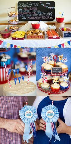 County Fair themed baby shower - ADORABLE and yummy food!!!