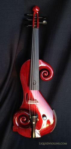 Ok...on a du mal à voir que c'est un violon quand même...mais pourquoi pas? #electricviolin