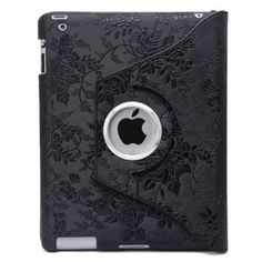 Black Embossed Flower Luxury Leather Case for iPad 2 <-- it's going to fit the NEW iPad, right?