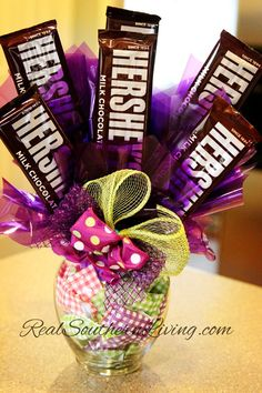 chocolate arrangements | Chocolate Candy Bouquet at RealSouthernLiving.com