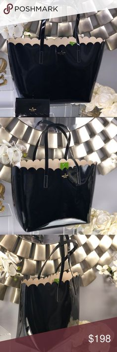Kate Spade Carrigan Lily Avenue Patent Black Tote Kate Spade Carrigan Lily Avenue Patent Black Tote Bag   NWT...Brand New Color: Black and Soft Porcelain  *Wallet sold separately in my closet kate spade Bags Totes