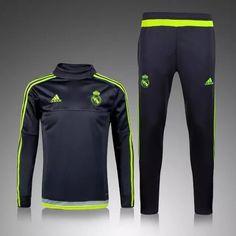 Real Madrid 2015/16 Men Black Tracksuit Slim Fit