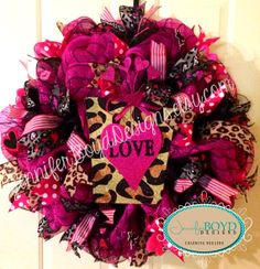 180 Best Valentines Mesh Wreaths Images On Pinterest Valentine Day