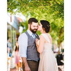 #tbt #mackonstevens #MackNSteve #oldtakoma  by @pshoots #Kiss #bride #groom #love