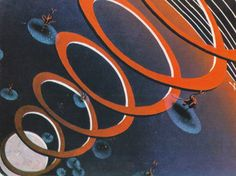 Courtesy of Barbican, from a series of vintage postcards (1965-68) from the Moscow Design Museum, appearing at the exhibition