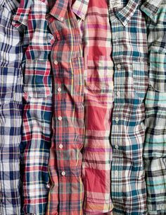 J.Crew men's slim madras shirts.