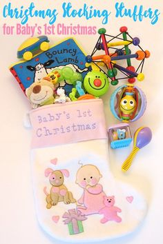 Awesomely engaging, and just plain fabulous gift ideas for babies under 12 months of age. Perfect for baby's first Christmas. Baby's First Christmas Stocking, Babys 1st Christmas, Christmas Gifts For Kids, Christmas Activities, Christmas Traditions, Christmas Stockings, Christmas Crafts, Christmas Ideas, Christmas 2016