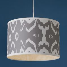"""Young House Love Two Tone Ikat Shade Pendant - 16"""""""