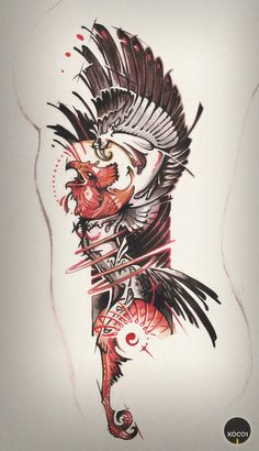 Phoenix - Tattoo Art by xocol4t4