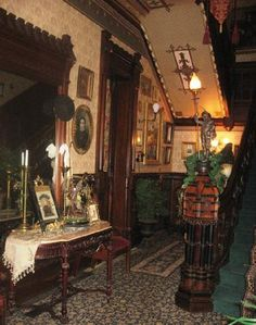 Victorian Homes Magazine Photo Shoot Stegmaier Mansion B Foyer,  Wilkes Barre