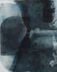 Smoky Blue Artwork - Eric Blum, Untitled , Ink, silk & beeswax on panel Abstract Expressionism, Abstract Art, Modern Art, Contemporary Art, Encaustic Art, Cg Art, Monochrom, Painting Inspiration, Room Inspiration