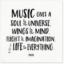 Music Gives a Soul to the Universe Plato Quote Art Print. Musical Literary Inspirational Print For Home or Office Music Quotes Deep, Rock Music Quotes, Emo Quotes, Senior Quotes, Lyric Quotes, Life Quotes, Singing Quotes, Quotes About Music, Good Song Quotes