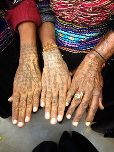 The women from the Dhebaria Rabari community carry many tattoos for both protection and decoration.