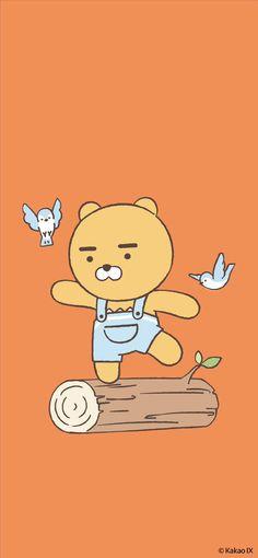 Kakao Ryan, Kakao Friends, Friends Wallpaper, Cute Wallpapers, Charlie Brown, Bullet Journal, Kawaii, Cartoon, Stickers
