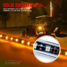 LED accent lights are the perfect safety accessory for off roading and construction, or simply for adding a stylish touch to your off road vehicles. Jeep Wrangler Parts, 2006 Jeep Wrangler, Wrangler Unlimited, Dark Night, Night Light, Truck Bed Lights, Lights And Sirens, Green Led, Marine Boat