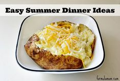 Looking for something easy for dinner after a long summer day? Try one of these easy summer dinner ideas! Quick Recipes, Quick Meals, Summer Recipes, Dinner Dishes, Food Dishes, Side Dishes For Bbq, Main Dishes, Easy Summer Dinners, Cookout Food