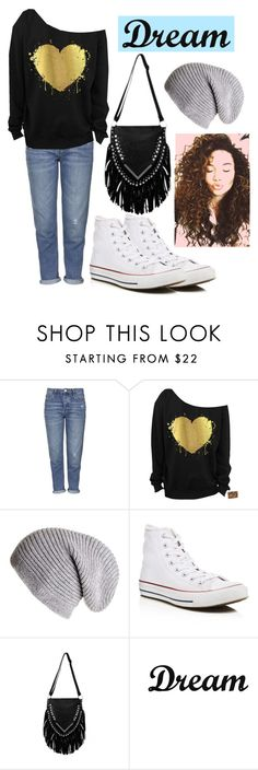 """""""Dream"""" by rani-elmwings ❤ liked on Polyvore featuring Topshop, Converse and Dot & Bo"""