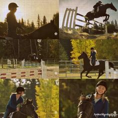 Amy & Spartan practicing the jump course   Heartland - 6x12 - Playing With Fire