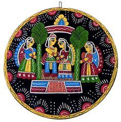 Indian Wedding - Wall Hanging (Tikuli Painting on Hardboard)