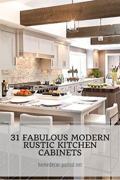 31 Fabulous Modern Rustic Kitchen Cabinets - Modern kitchens have plywood or Formica tops for a clean, contemporary and elegant look. If you are a retro fan, you can give your kitchen a different. Home Roof Design, Rustic Home Design, Unique House Design, Minimalist House Design, Minimalist Home, Latest House Designs, New Home Designs, Cool House Designs, Interior House Colors