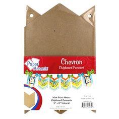 Chevron Chipboard Pennant