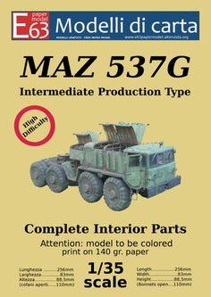 Maz 537G Free Papermodel  Scaricabile gratuitamente da www.e63papermodel.altervista.org