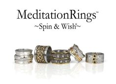 by MeditationRings. ~Spin & Wish~ Photo Grouping, Meditation Rings, Spinner Rings, Spinning, Creme, Gold Rings, Cufflinks, Wedding Rings, Engagement Rings