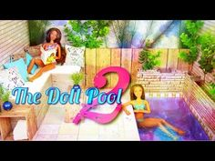 How to Make a Doll Swimming Pool 2 - Doll Crafts - YouTube