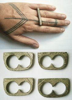 madera anillo doble