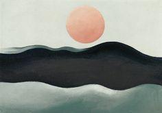 Georgia O'Keeffe; 'Sunset Long Island', 1939