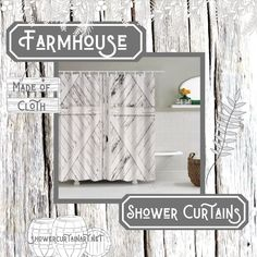 Drastically enhance your bathroom decor with a soft & stylish fabric shower curtain from Shower Curtain Art. Country Farmhouse Decor, Rustic Curtains, Modern Bathroom Design, Rustic Shower, Farmhouse Shower Curtain, Bathroom Style, Bathroom Makeover, Rustic Shower Curtains, Room Decor