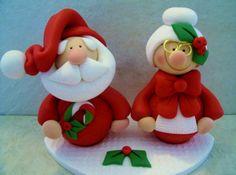 Santa y Sra. Claus arcilla polimérica por countrycupboardclay