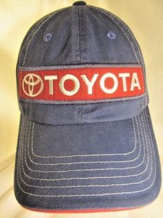980f9edd9e5 Toyota Baseball Cap Slouch Hat Embroidered Patch Racing Blue Adult  Adjustable  Toyota  ToyotaRacing
