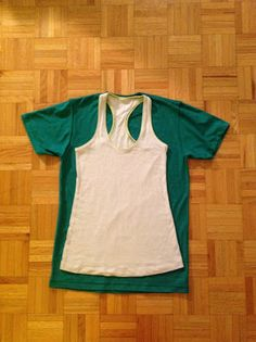 Make a Tank Top from a Guy's T-shirt.  I have so many cool (and giant) shirts from the days before they made girlie cuts