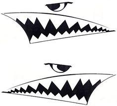 Amazon.com: ATMOMO BLACK 2Pcs Car Body DIY Shark Teeth Decal Shark Mouth Teeth Stickers Waterproof Vinyl Car Decoration Sticker Decals: Automotive Plinko Board, Shark Mouth, Samurai Tattoo, Scroll Saw Patterns, Posca, Nose Art, Military Art, Wildlife Art, Car Stickers